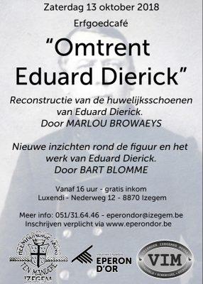 Erfgoedcafé Eduard Dierick met medewerking VIM