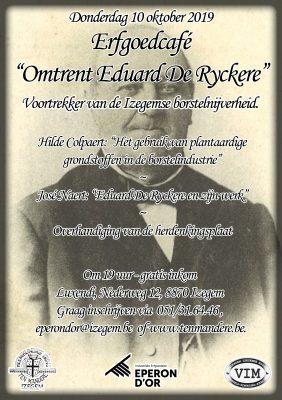 Erfgoedcafé Eduard De Ryckere