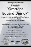 Flyer erfgoedcafé Eduard-Dierick